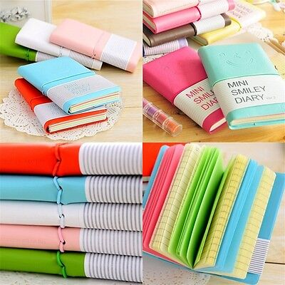 Mini Smiley Diary Pocket Notebook Tiny Journal Memo Free Note Gift Colorful