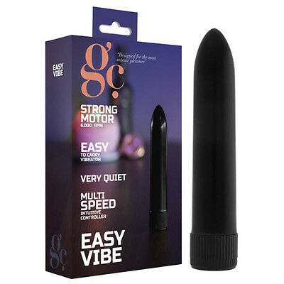 New Easy Vibe 13cm Vibrator Black | Women's Sex Toy Stimulator