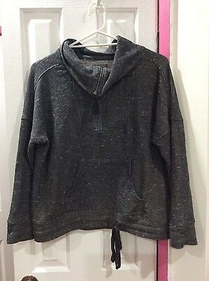 Womens grey drop neck pullover size 14