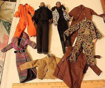 Vintage Mattel Malaysia Black Afro American Dolls G.i. Gi Joe Barbie Clothes