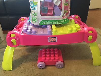 Mega Bloks Table Pink And Green Colours