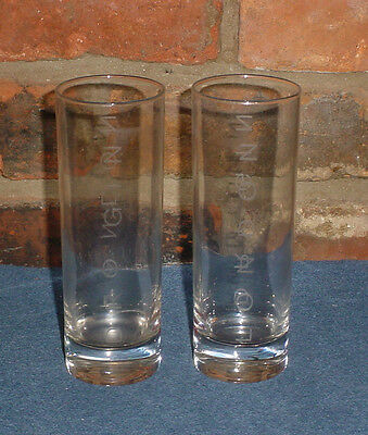 Beefeater London Dry Gin Cocktail Glasses tall clear