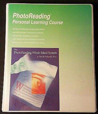 Photoreading Personal Learning Course by Paul R Scheele 8 Cassettes & Books