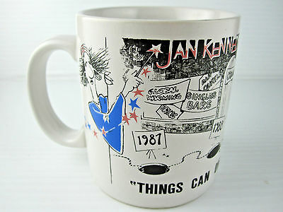 Vintage 1980's Jan Kennedy Predicts Coffee Cup Mug National Enquirer Rare HTF