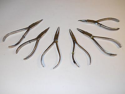 Pliers Orthodontic Dental Equipment Dentist Tools E.A BECK & G.H.W SET OF 6