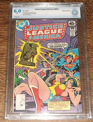 Justice League Of America #166 (1979, Dc) Cbcs 6.0 White  Pages Whitman Variant