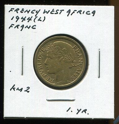 *  French West Africa 1944 (One Year Type) Franc *