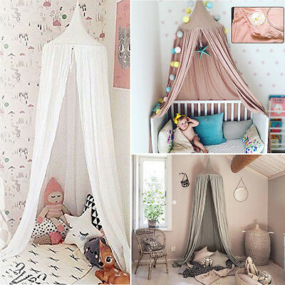 Bed Netting Mosquito Bedding Canopies Net Baby Reading Play Tent Cotton 3 Colors