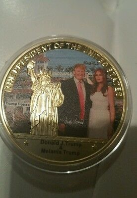 President Donald Trump money, coin 999. 24k Gold Plated Commemorative