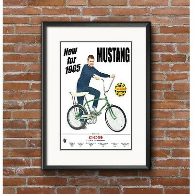 CCM Mustang Bicycle Advertising Poster 1965 - Join the Mustang Movement Canada