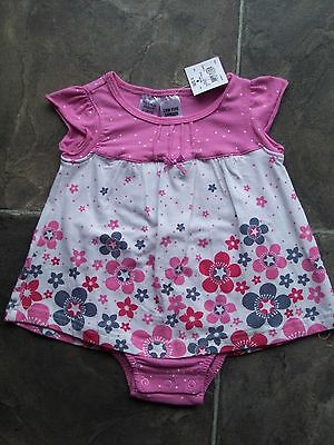 BNWT Baby Girl's Pink, Navy & White Floral Swing Top Size 0