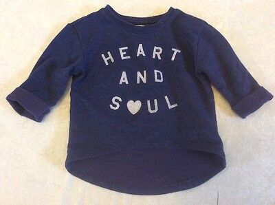 Heart And Soul Top 2T Old Navy Blue Pullover Girl