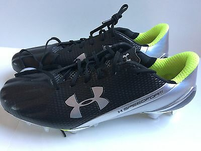 Under Armour Speedform MC Football Cleats - Men's Size 10 -  Silver Black