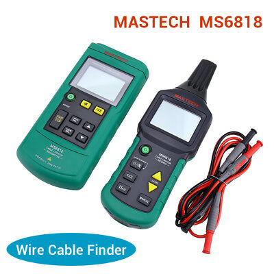 Mastech MS6818 Wire Cable Tracker Metal Pipe Locator Detector Tester Meter AC/DC