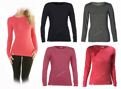 Ladies Girls Long Sleeve T-Shirts Women's Sports Performance Top