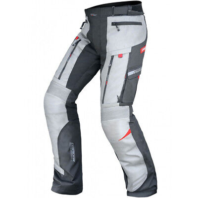 DriRider NEW Vortex All Season Grey Premium Motorcycle Touring Adventure Pants