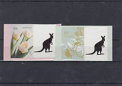 Australia 60c Personalised Tab Stamps x 2 different with Kangaroo Tab lot3