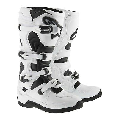 Alpinestars NEW 2017 Mx Tech 5 Adult Dirt Bike Black White Motocross Boots