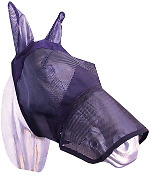 NEW AUSSIE SADDLERY Fly Mask with Nose and Ear Piece-Mesh