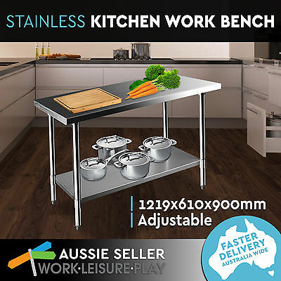 New Stainless Steel Kitchen Work Bench Food Prep Catering Table PERTH PICK UP