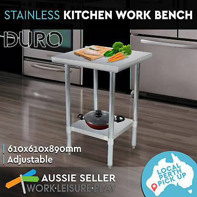 Commercial 430 Stainless Steel Kitchen Work Bench Top Food Prep Grade Table
