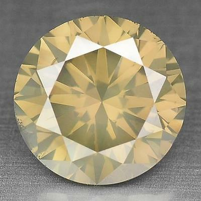 2.13 cts ! 100% Natural Fancy Yellowish Green Color Unheated Round Diamond