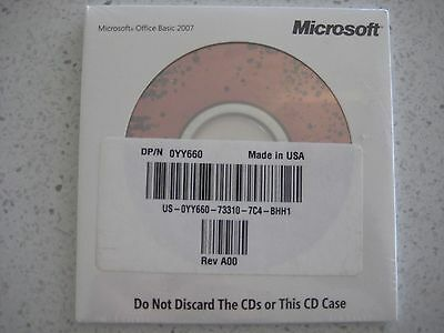 BRAND NEW, SEALED, GENUINE Microsoft Office 2007 (Word Excel Outlook)