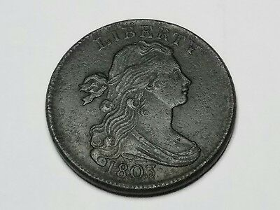 1803 draped bust large cent extremely high grade
