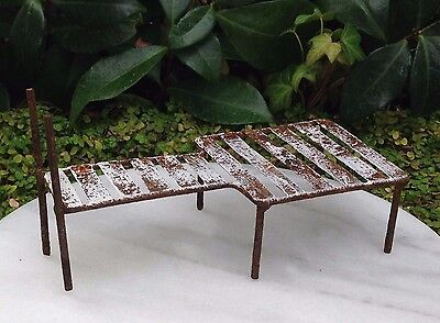 Miniature Dollhouse FAIRY GARDEN ~ Sea BEACH Lake Rustic White Metal Boat Dock