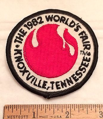Vintage 1982 World's Fair Knoxville Tennessee Logo Embroidered Patch Badge