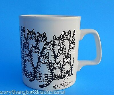 B. Kliban Cat Coffee Tea Cup Ceramic Mug Made In England Kliban Cat Cat Cats