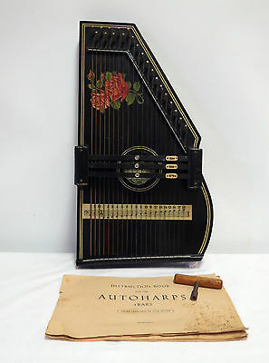 Vintage 21 String 3 Bar Auto Harp Zither Made in Germany/Antique/Instrument/Wood