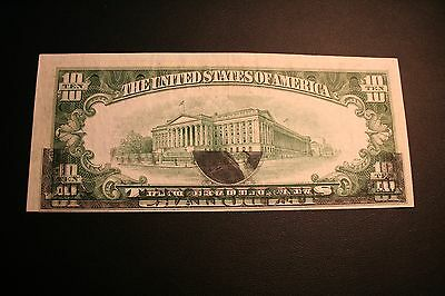 1950 A Ten Dollar Note GHOST OVERPRINT * AWESOME ERROR *