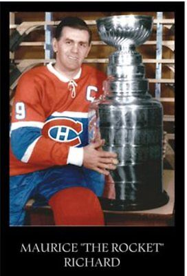"""Maurice """"Rocket"""" Richard 11 x 17 Poster - Montreal Canadiens Stanley Cup"""
