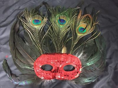 Bulk Lot 12 x Cosplay Peacock Feather Masquerade Mask Party Costume Ball Prom