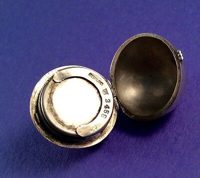 Antique Sterling Silver Round Sovereign Coin Case Charm Simons Bros. & Co.