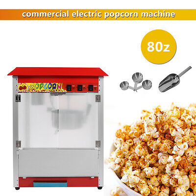 Popcorn Machine Commercial Electric Pop Corn Maker Popper Party Red 8Oz 1300W