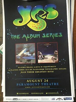 YES  Album Series 2016  Denver CO TOUR Poster