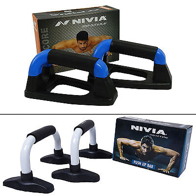 Nivia Dynamic Heavy Duty Plastic Push Up Bar With Rubber Grip Set Of 2