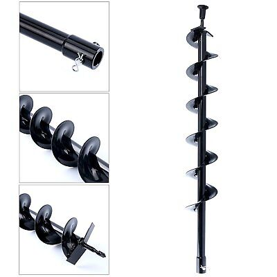 """30"""" inch Auger Post Hole Digger Bit Carbon Steel 4"""" inch Wide Skid new list"""
