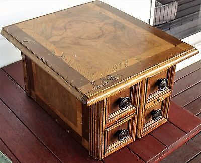 Antique cabinet with inlay. 4 x drawers.  Lovely antique item.