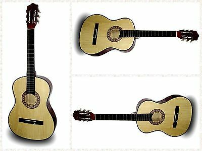 """38"""" Large Wooden Acoustic Guitar Classic Musical Instrument Student Adult Gift"""