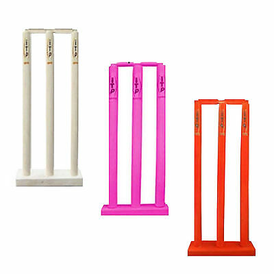 Kids Cricket Stumps & Bails With Floor Base Cricket Wicket & Stumps Age 3 to 11