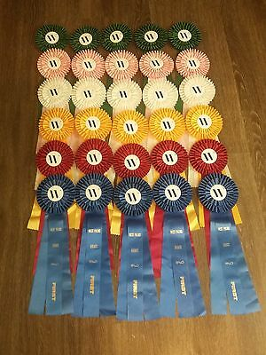 (30) Horse Show Ribbons, (5) each place 1st thru 6th places