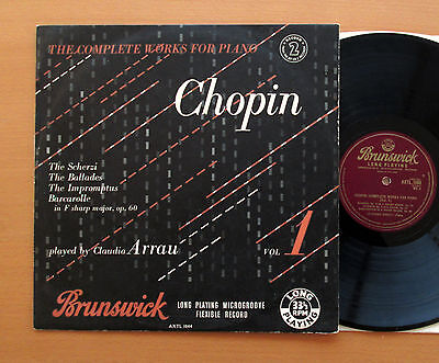 AXTL 1044 Chopin Complete Works Claudio Arrau (Record 2 of 2 Only) Brunswick