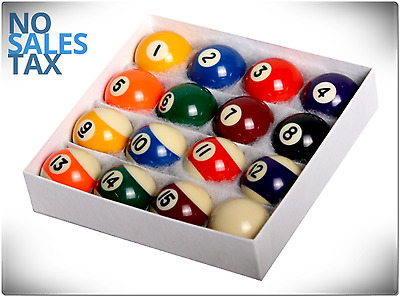Pool 16 Ball Set Billiard Table Art Number Style Reg Size Weight Play Game Home