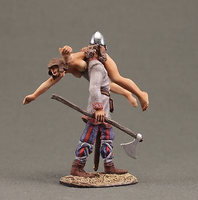 """Toy tin soldiers 54 mm . Viking with """"prey""""."""
