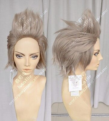 FF15 Final Fantasy XV Ignis Stupeo Scientia Short Faded Gray Styled Cosplay Wig