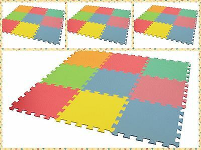 9- 27Pcs Interlocking Eva Foam Mat Nursery Kids Play Mat Tiles Flooring Carpet