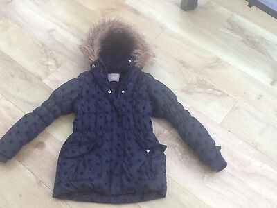 Gorgeous Navy Blue Spotty School Coat Age 10-11 Years